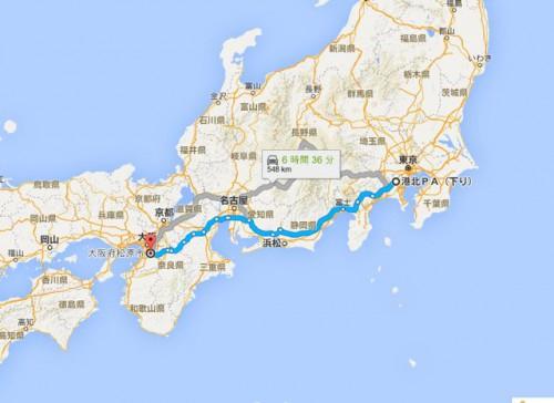 ヒッチハイク2日目マップ1